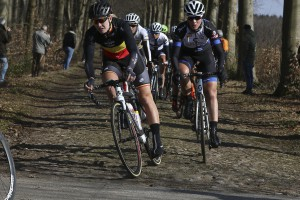 Simona in good position over the cobbles in Ronde van Drenthe. Photo: Sportfoto.nl/SF Road 2015