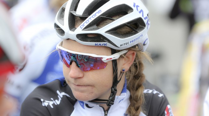 Lauren focusing before the start.  Photo: SF Road 2015