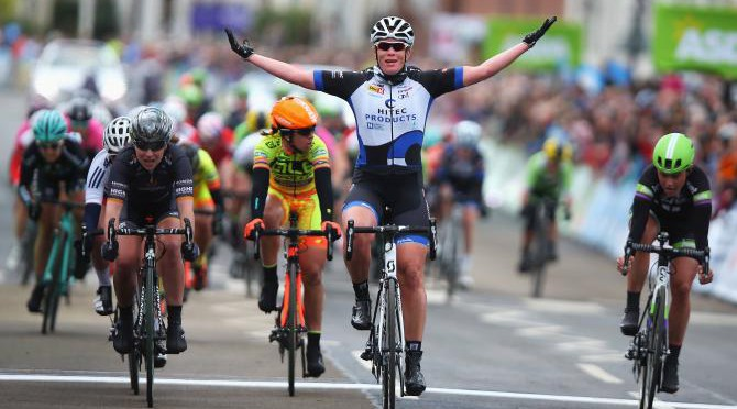Kirsten claims the win at Yorkshire. Photo: Getty Images