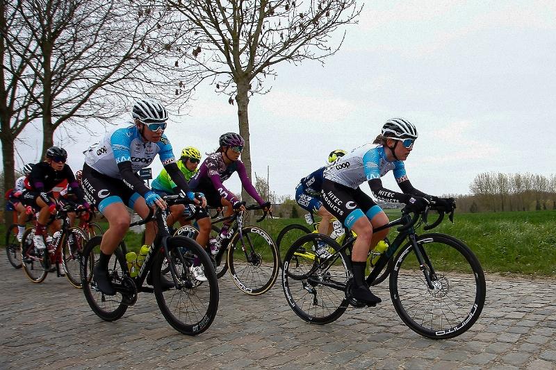 COOP-Hitec in the attack in Ronde van Vlaanderen